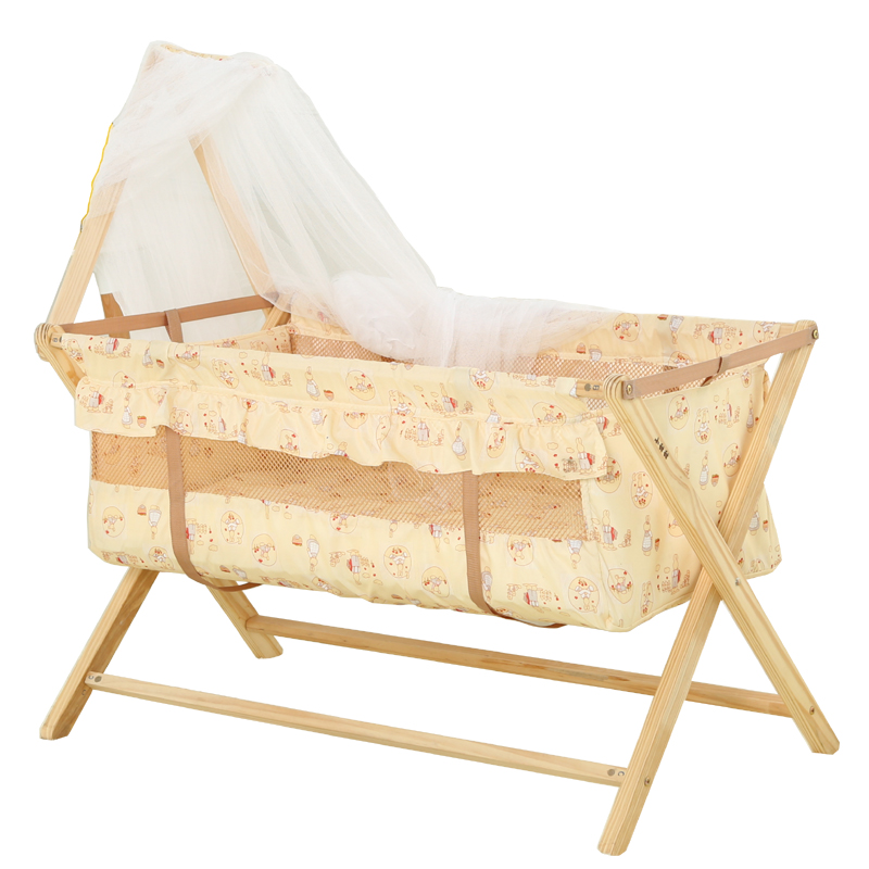 環境に優しい嬰児ベッドの赤ちゃんの小型サイズは折り畳みベッドの多い機能