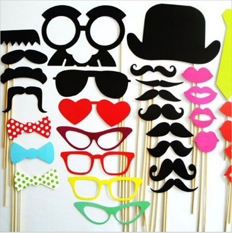 Photo Booth 2014 wedding Photo Props Party Favor 32pcs