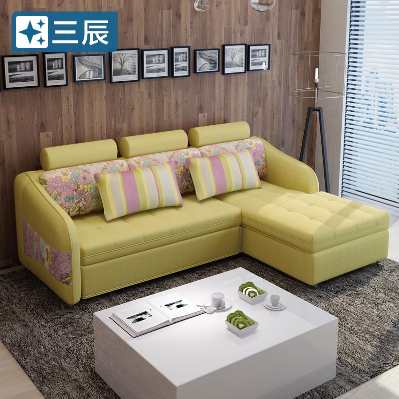 小さいタイプの部屋の貯留は布製ソファベッドの客間の角の多い機能なまけ者のソファーの現代的な簡約