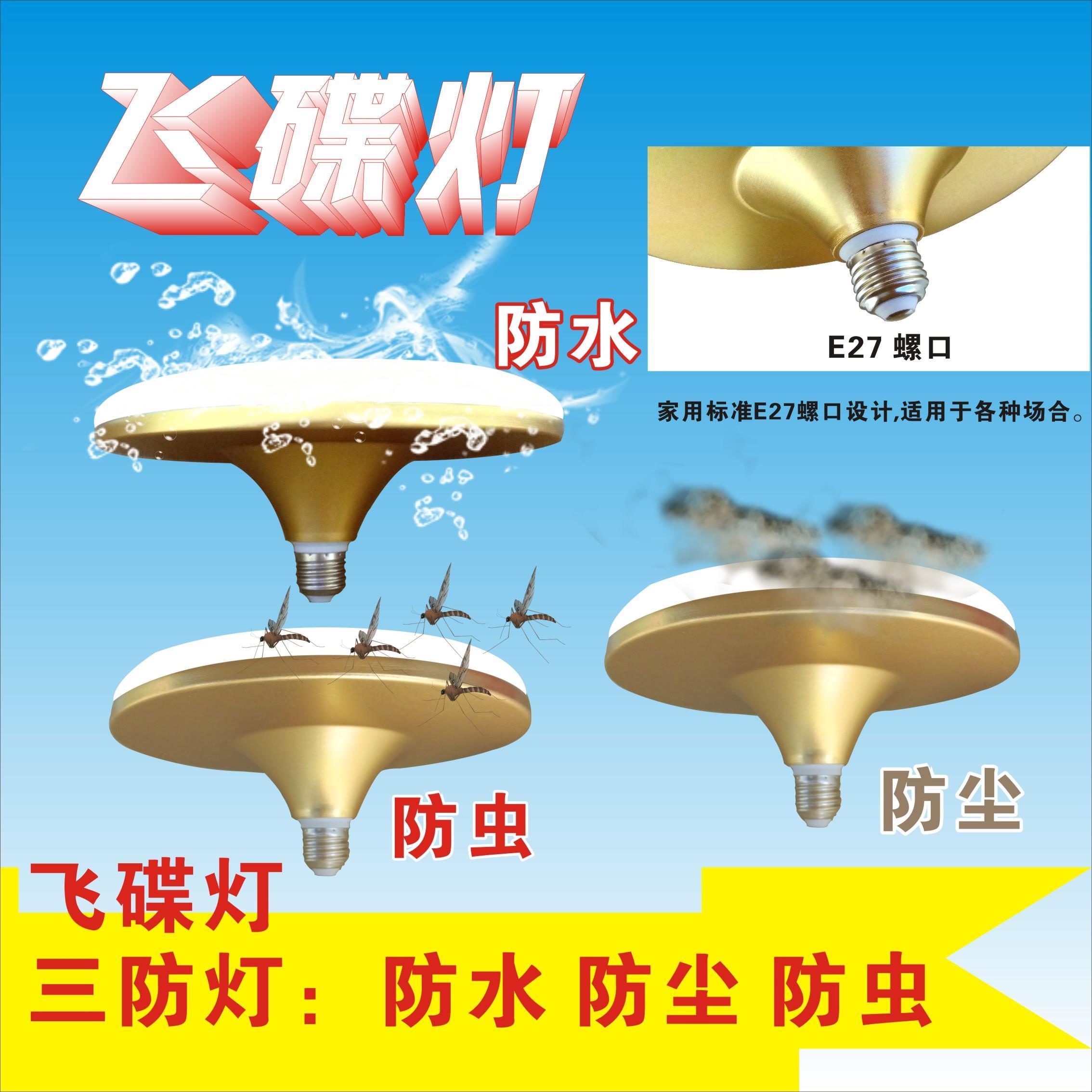 Licht - merk aan aluminium leidde de vliegende schotel lamp sterke lampen Super slim genoeg tegels e27 - energie - efficiëntie