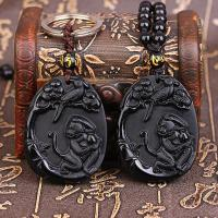 The opening of 2017 years twelve zodiac Pendant chicken male and female Obsidian dragon mascot monkey peach annunciation Pendant