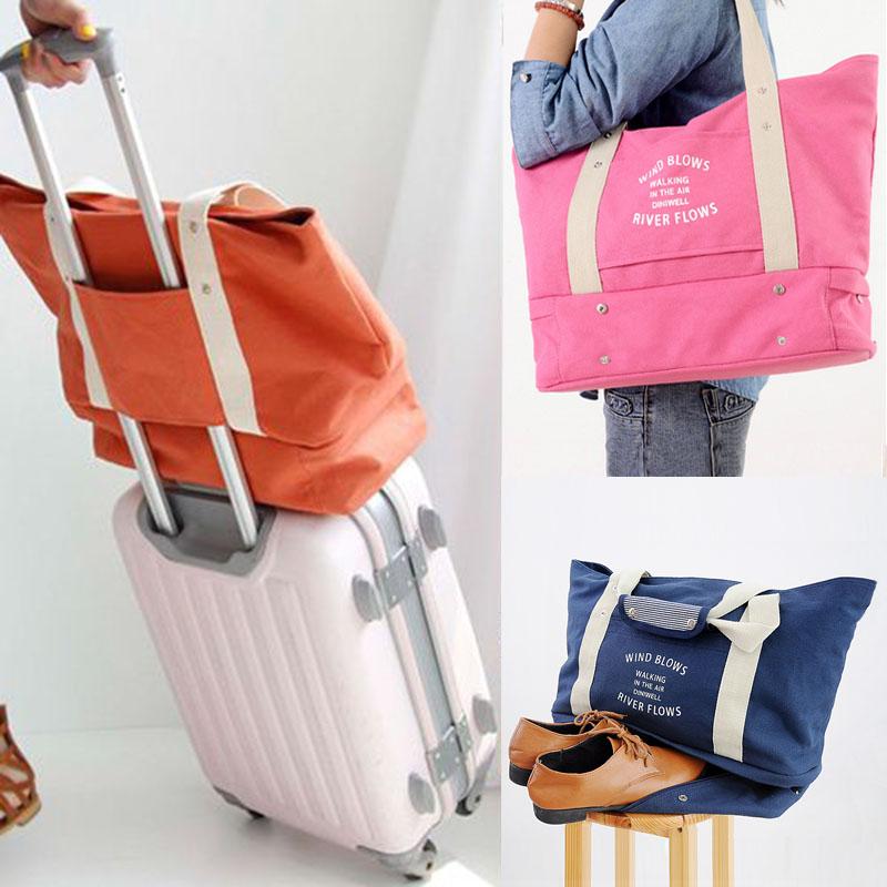 韩版旅行袋手提女大单肩短途出差旅游包商务可套行李拉杆箱健身包