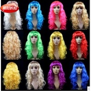 Seven street queen sweet and lovely fashion women can be uniform oblique bangs room temperature silk long curly wig