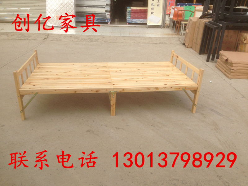 Cedar wood wood folding bed folding bed single bed double bed bed bed simple lunch