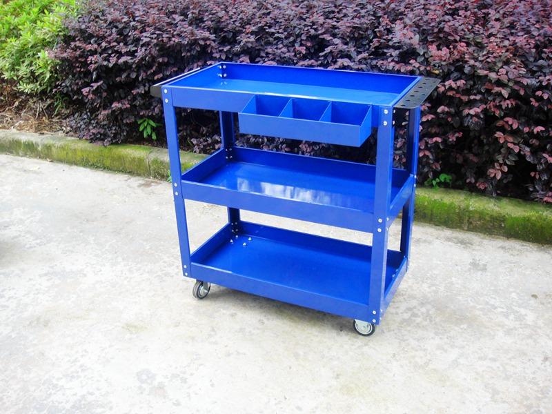 金具メンテナンス三層キャビネット箱車組立回転工具車運搬部品カート自動車修理して工具