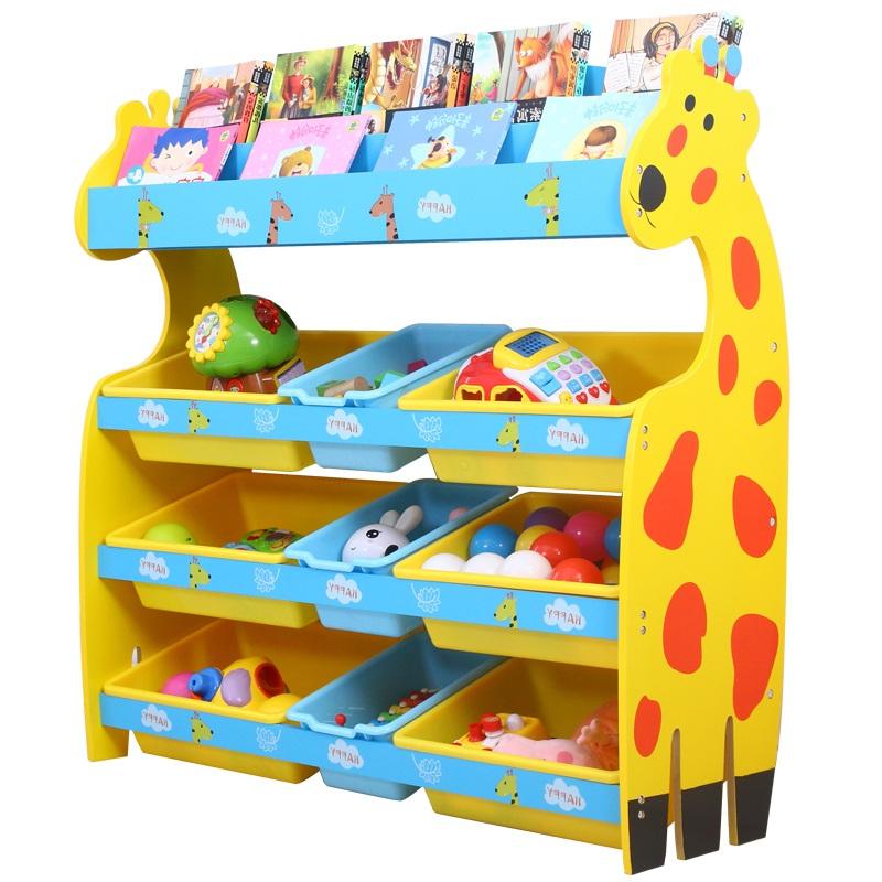 女童女童玩具图书架儿童男童收纳收纳架分类教具墙角分类书架卧室