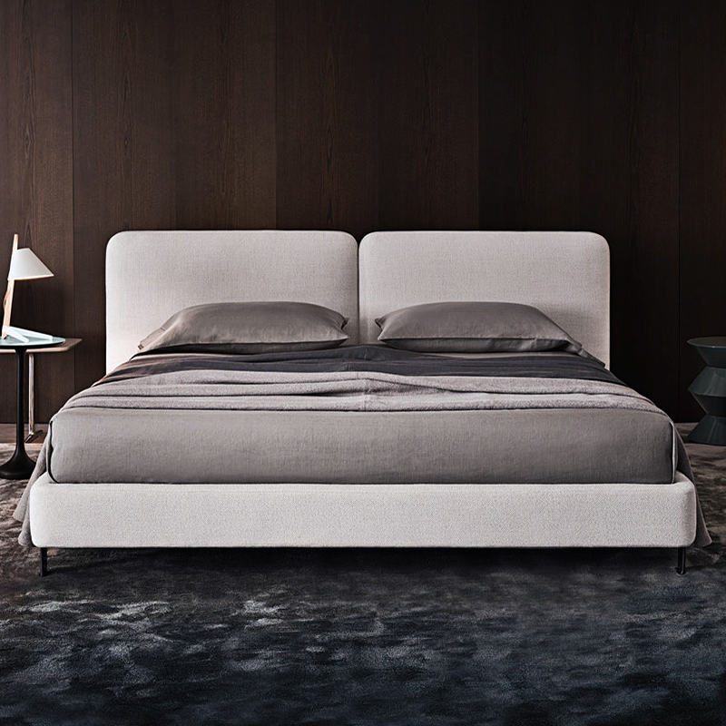 Designers recommend Nordic style modern minimalist upholstery fabric bed washable 1.5 meters 1.8 meters double bed