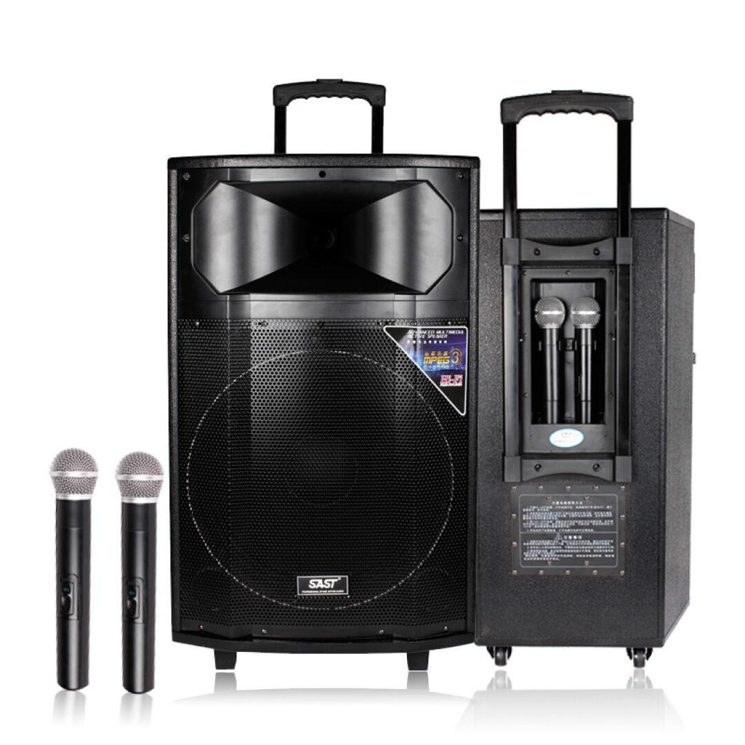 () st-1705 square dance audio 15 inch with Bluetooth 500W high power outdoor pull rod electricity