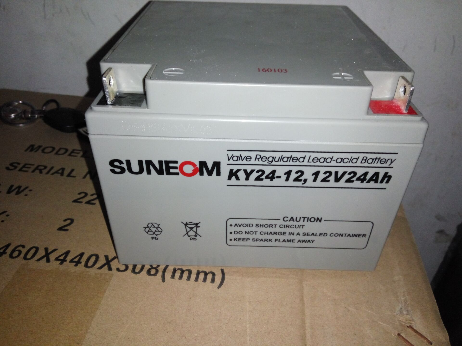New energy SUNEOM battery KY24-12UPS special battery 12V24AH lead acid free maintenance battery