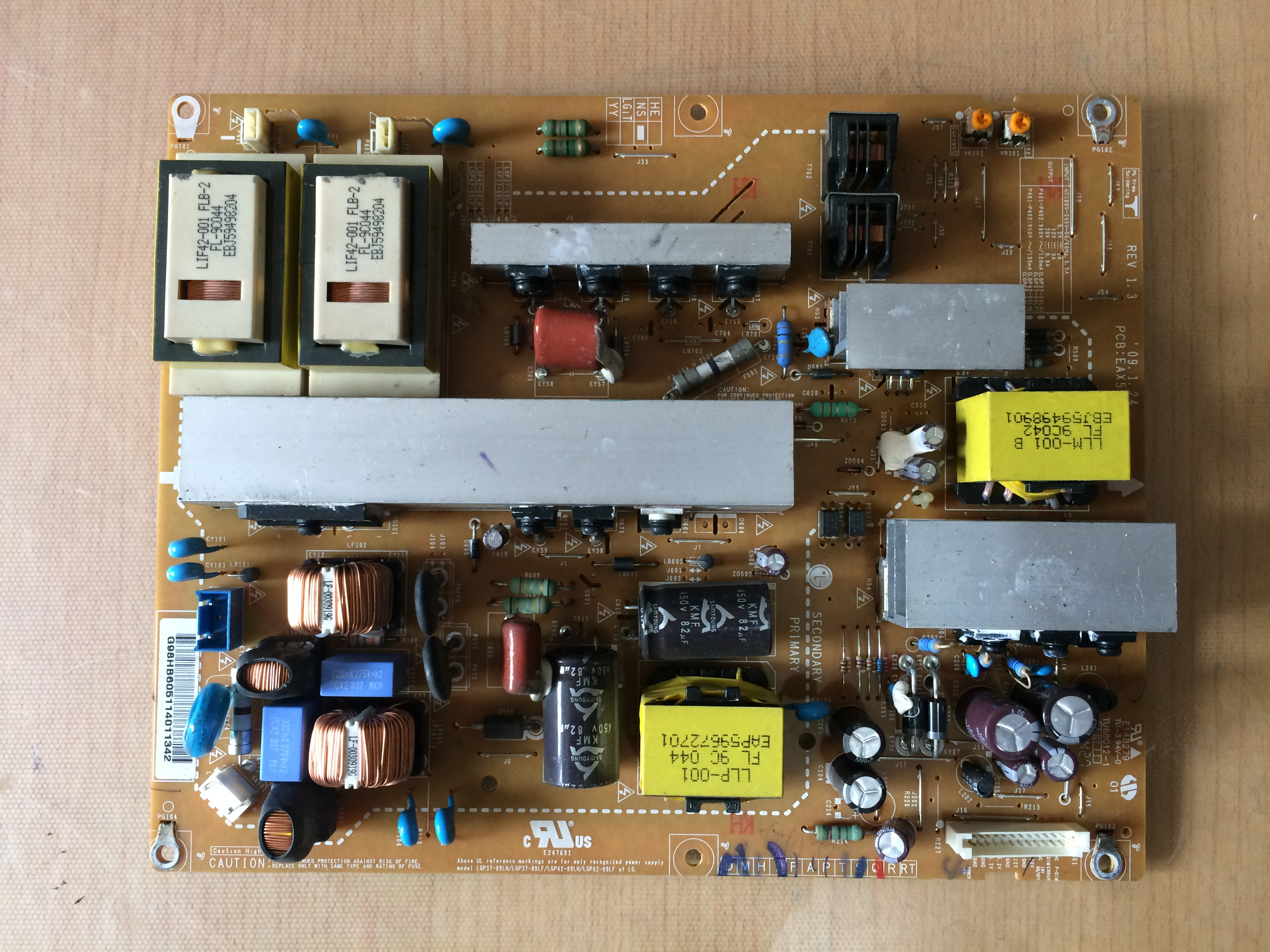 LG LCD - TV 42LH30FR-CA Power Board LGP42-09LFEAX55357701