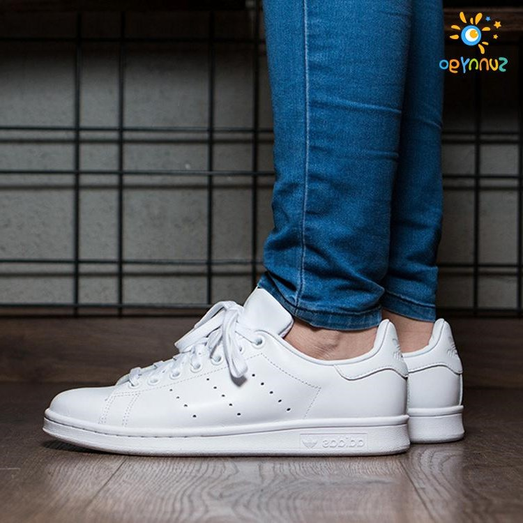 Adidas stansmith white clover Smith men shoes casual shoes S7510 lovers
