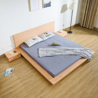 Solid oak bed Jane Japanese tatami bed about Nordic pin meters modern bedroom 1.8 meters double bed and soft back