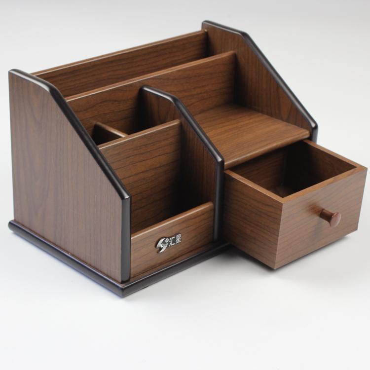 1029韓國創意時尚大號筆筒收納筆座筆桶擺件辦公用品實木制木質多功能