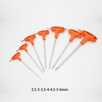 Metric type T inner six angle wrench set offset inner six angle wrench set in the six T type wrench