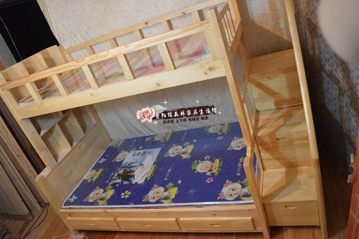 Guiyang Anshun shipping Mudi pine bunk bed bed bed bed shelf stairs (1.2 meters by 1