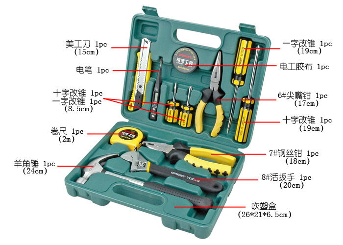 Vehicle speed wrench ratchet wrenches and combination of boats / / auto repair kit hardware kit