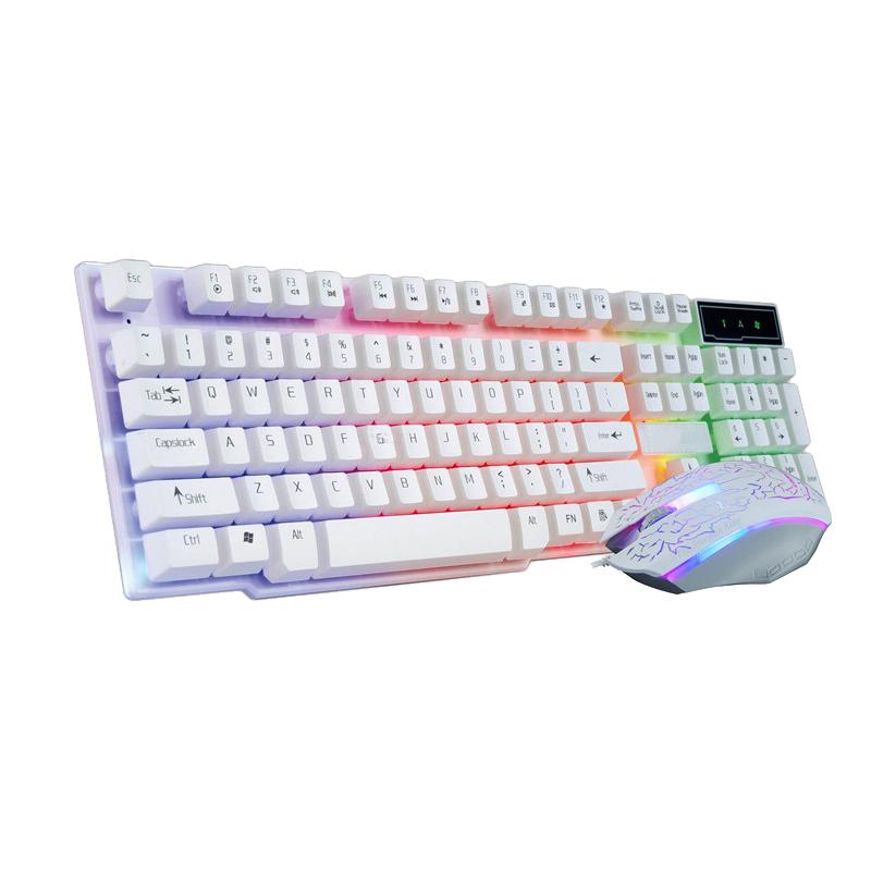 لوحة المفاتيح والفأرة لعبة الكمبيوتر الناقل التسلسلي العام مضيئة مفتاح الماوس الميكانيكية مقبض