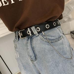 自制凹造型ins超火的链条皮带女朋克风百搭嘻哈镂空裤带男原宿风