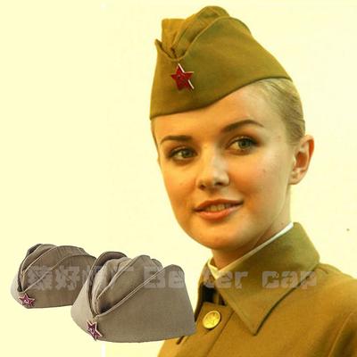 俄罗斯船型帽男女军迷收藏展示 苏联帽子广场舞水兵舞帽演出军帽