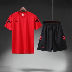 运动套装男短袖短裤训练跑步健身速干夏季户外运动薄款吸汗透气