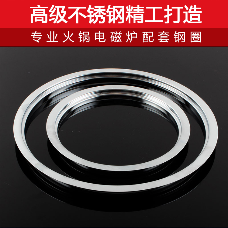 Special embedded sunken pan, stainless steel electromagnetic oven bracket, square circle steel ring, pan frame