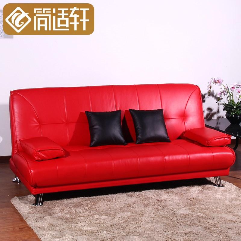 απλά η τον καναπέ - κρεβάτι πτυσσόμενου 1,8 m σαλόνι διπλό πολυλειτουργική δερμάτινος καναπές 1,5 ξύλο