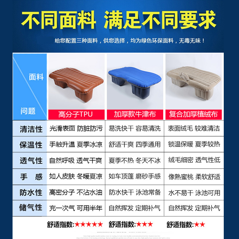 Roewe 360350RX5 car cushion vehicle rear folding inflatable mattress bed bed 550 travel car