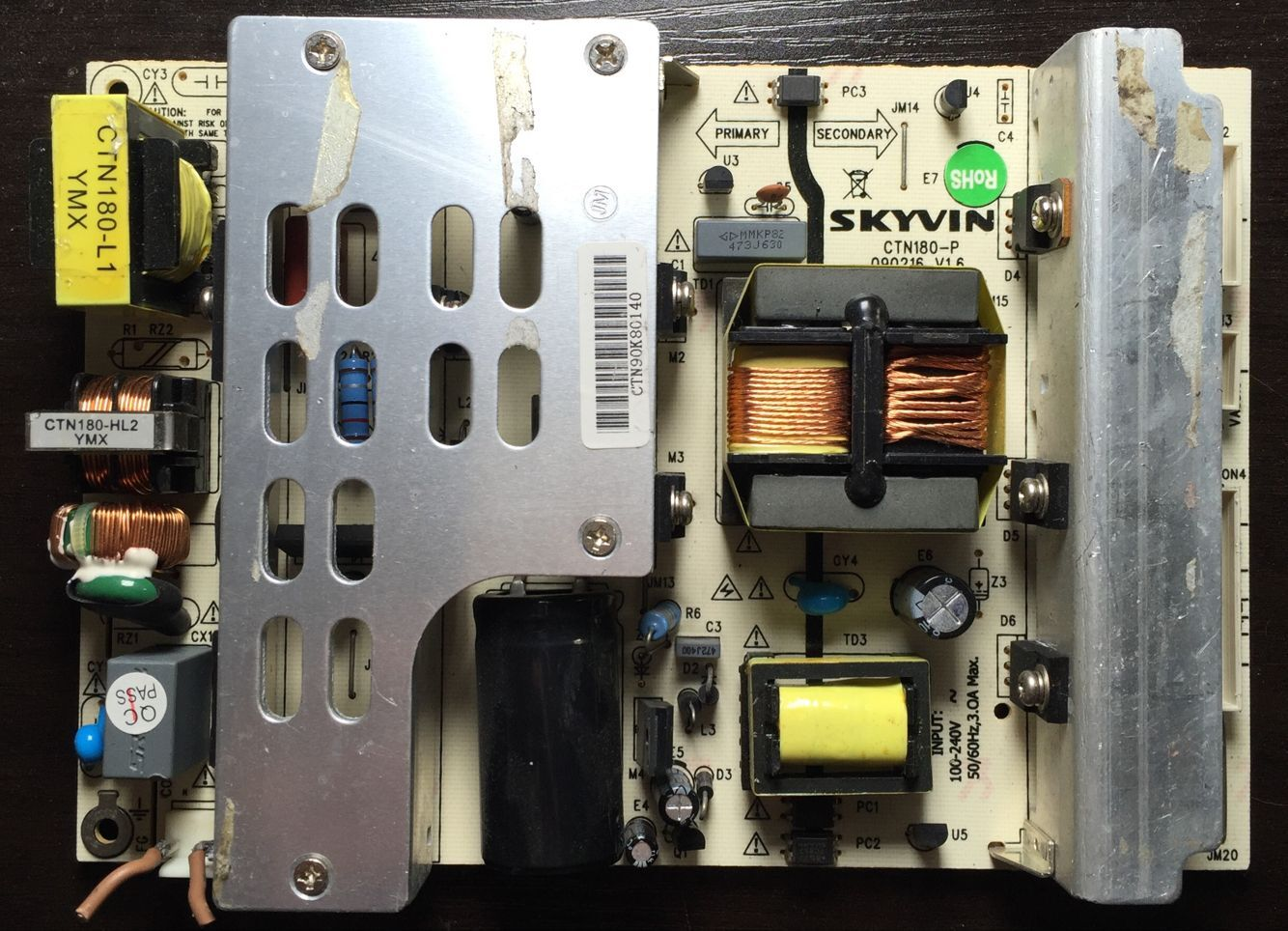 оригинальные разбирать Динк SKYVIN Общие полномочия Совета CTN180-P080610V1.5 жидкокристаллический телевизор