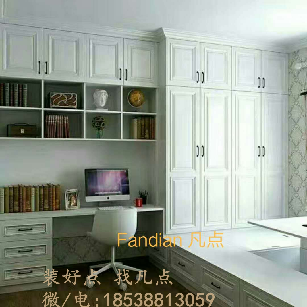 The wind lifts with tatami bed for adults and children integrated bookcase wardrobe cabinet wood particle