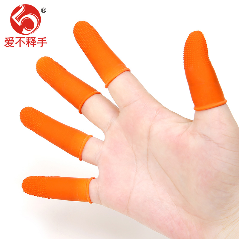Thickening skid proof water stop, wear resistant latex finger sleeve rubber protection, counting money, labor protection industrial finger sleeve