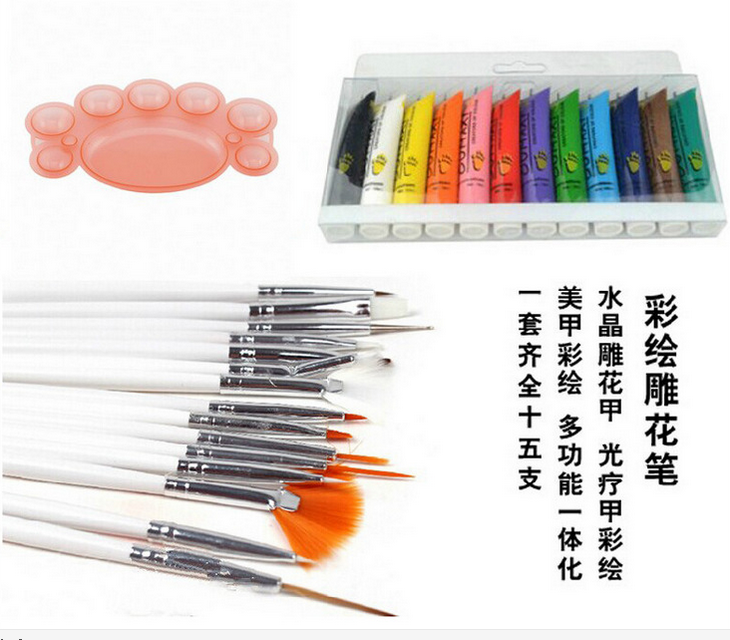 Wholesale special set of nail tool supplies wholesale hand painted nail painting, acrylic paint, line pen set