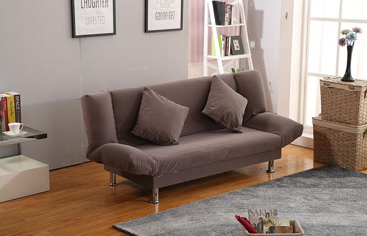 Τον καναπέ - κρεβάτι πτυσσόμενου σαλόνι διπλό μικρό διαμέρισμα απλή πολυλειτουργική μονό μίνι κρεβατοκάμαρα ύφασμα ο καναπές
