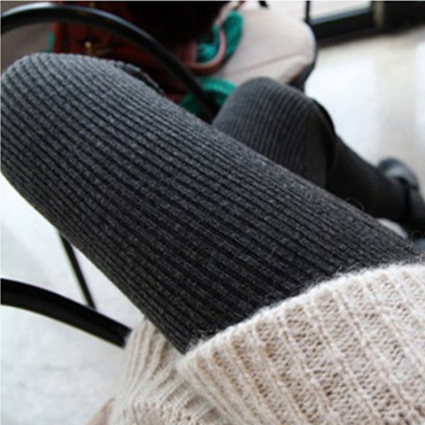 春秋季灰色外穿打底褲女薄款純棉高腰緊身韓版潮百搭顯瘦大碼長褲