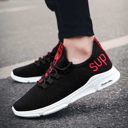 跨境大码2019春季潮流男鞋低帮运动鞋男潮流休闲鞋子男运动风单鞋