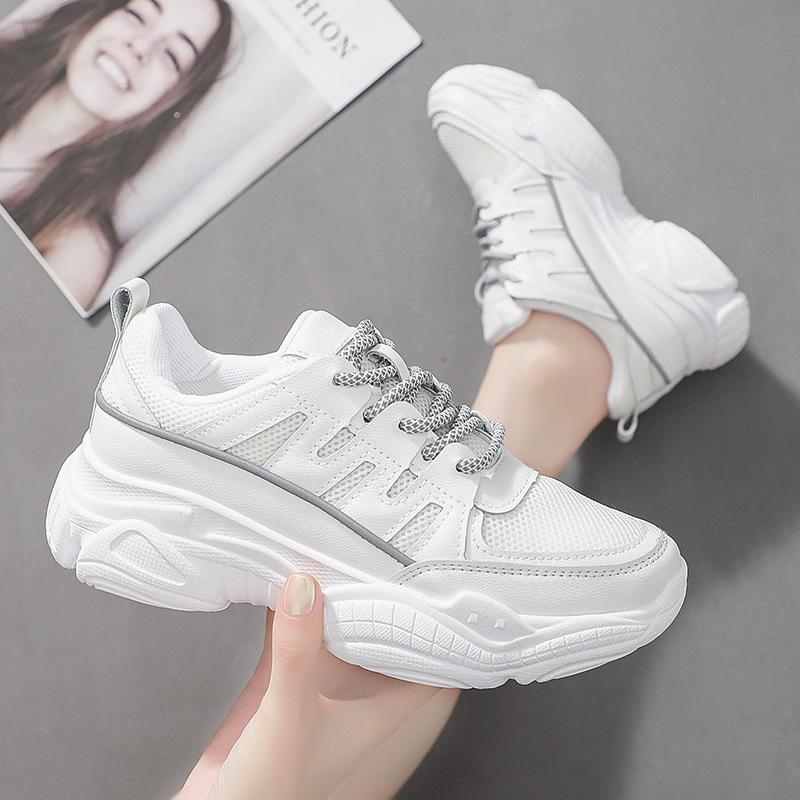 老爹鞋2019新款女士运动鞋反光厚底