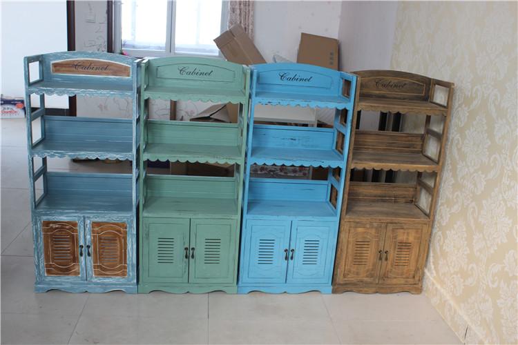 Mediterranean simple bookshelf children's students' study in the bedroom