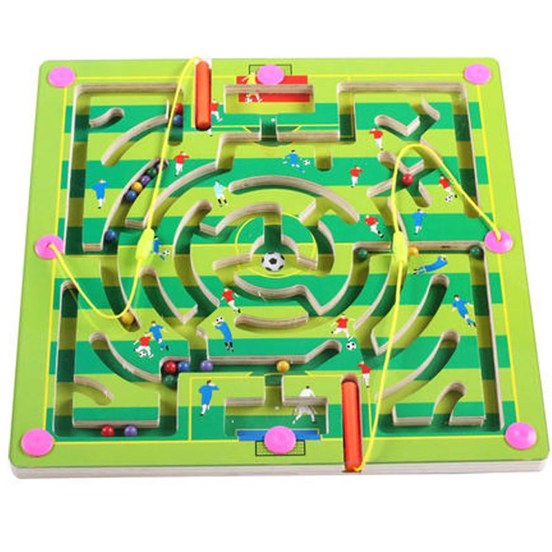 шариковая ручка магнитный лабиринт детей магнитные головоломки магнит ребенок мальчиков и девочек в возрасте 2-3-4-5 интеллектуальной игрушки