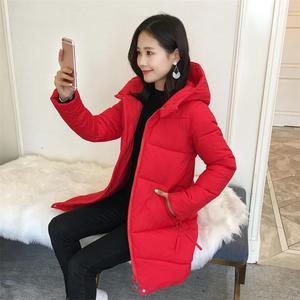 2018新款冬季棉服韩版外套棉衣女中长款修身显瘦连帽羽绒棉服116