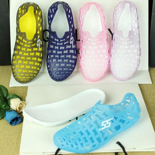 夏季花园鞋洞洞鞋果冻