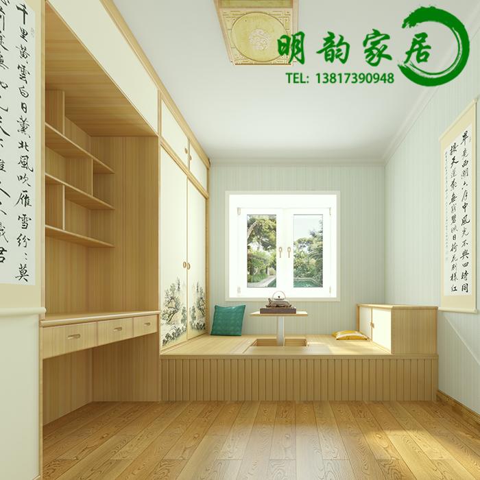 Tatami wood custom storage platform of modern minimalist and whole house furniture tatami bed.