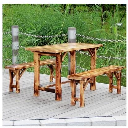 Fast - food de tables et de chaises de carbure de table en bois de nouilles à manger des tables antiquité de loisirs des barres de combinaison de chaise de bureau extérieur