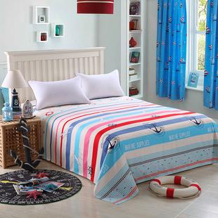 秋冬季学生床单单件双人床单2.2*2.3米加厚床罩双人被单不起球