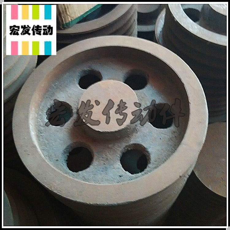 Triangle belt pulley motor pulley B type four slot B4-300mm machining inner hole keyway