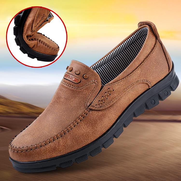 老北京布鞋秋季中老年男鞋爸爸中年父亲男士休闲防滑软底老人单鞋