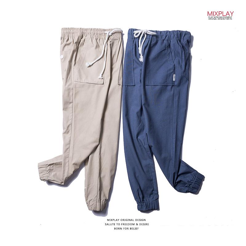 工装裤男潮牌宽松直筒学生青年日系男士裤子港风休闲裤子男长裤