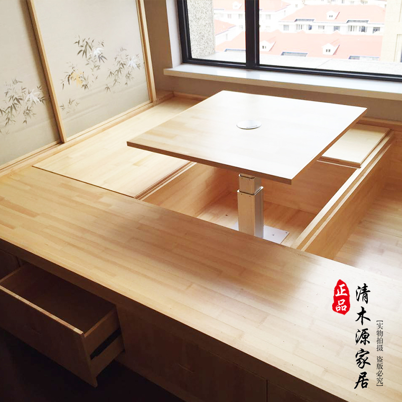 Hangzhou custom custom wood storage platform tatami mattress and a full set of custom study Japanese tatami