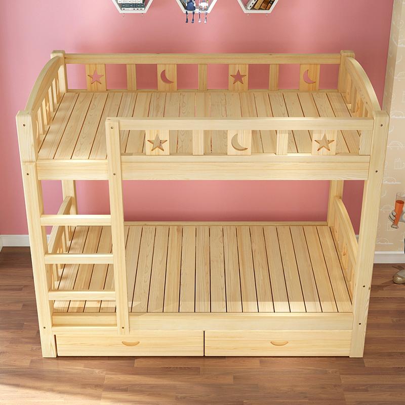 Los niños en la cama cama cama dormitorio cama litera adultos cama gemela moderno minimalista y la cama doble de madera maciza