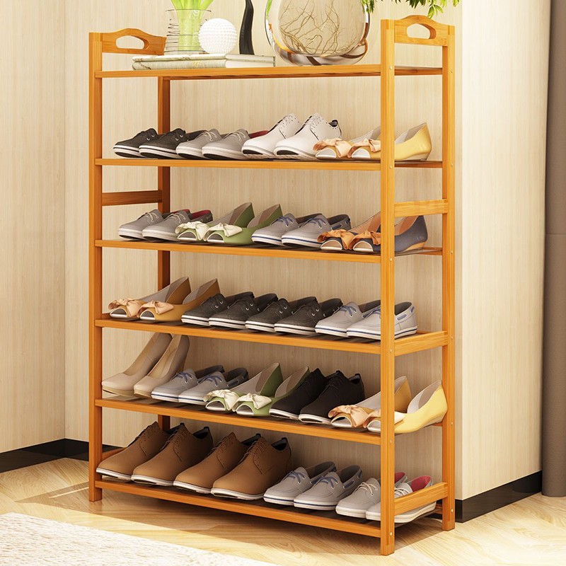 Special offer shoe multi-layer solid wood economic domestic bamboo simple storage storage space shoe dormitory dormitory