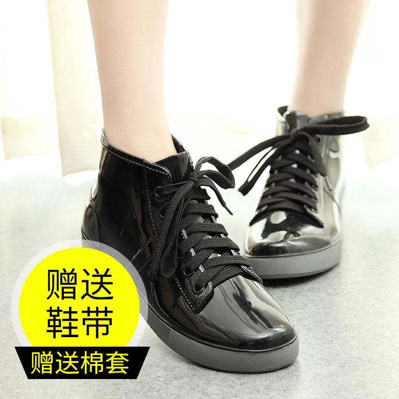 加絨可愛短筒學生雨鞋女韓國保暖雨靴防水防滑成人水鞋水靴套鞋膠