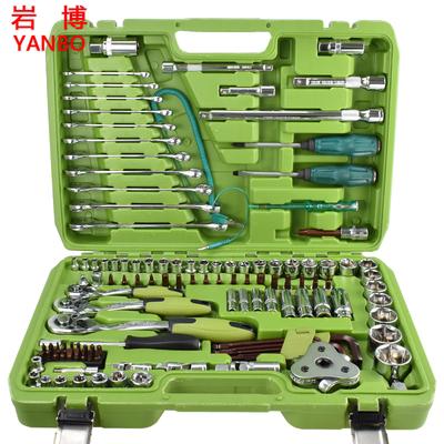套筒扳手套装万能多功能汽车快速维修工具箱套装棘轮汽修修理套装
